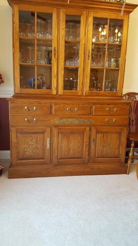 Hitchcock Furniture Golden Harvest Oak Dining Room Set In